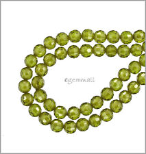16 Cubic Zirconia Round Beads 4mm Olive Green #64750