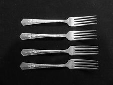 Wallace Silverplate (Harmony House) Vintage Maytime set of 4 Dinner Forks *
