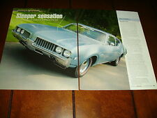 1969 OLDSMOBILE F-85 W-31 MUSCLE CAR  ***ORIGINAL 2008 ARTICLE / SPECIFICATIONS