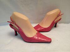 Nine West Mckenna Slingback Pumps Shoes Croco Print Womens Size 6 M