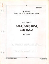 F-86A, F-86E, F-86F, RF-86F Structural  Air Force Manual Flight Manual (CD)