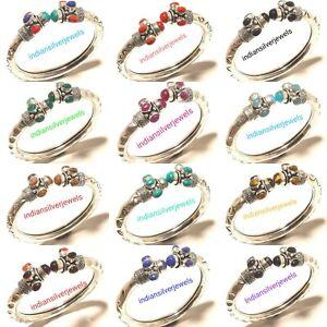 Wholesale Lot Of Bangles Mix Gemstone Handmade Bracelets Jewelry 10p Cuff