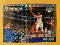 2019-20 Panini Mosaic Joel Embiid Montage Silver Wave Prizms SP Insert #16 RARE!