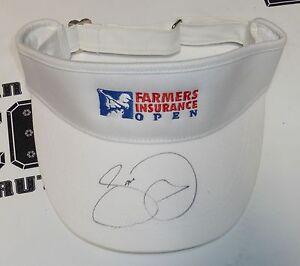 Jason Day Signed PGA Golf Farmer's Insurance Open Torrey Pines Visor Hat BAS COA