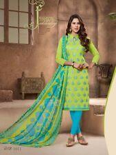 Designer Churidar Salwar Kameez Suit Dress Material Fancy Chanderi Work AKIRA11