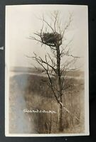 1928 Croton Michigan to Cleveland Ohio Eagles Nest Real Picture Postcard Cover