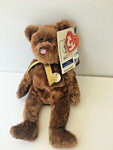MWT TY 2002 FIFA World Cup Kora Japan Soccer Champion US Beanie Baby Bear