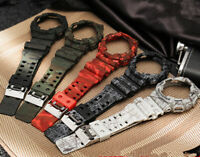 Replacement Silicone Rubber Watch Band+Bezel fits G-SHOCK GA-110 GA-100 GD-120