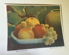 M. R. BEBB First Fruits 23/150 ORIGINAL PRINT COLOR ETCHING 1947