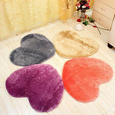 New Absorbent Memory Foam Bath Bathroom Floor Shower Heart Mat Rug 30X40CM set