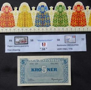 Banknote, DENMARK ,  5 Kroner , Date : 1945.