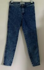 New Look Petite Size 6 Ladies Blue High Waist Skinny Jeans Trousers