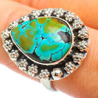 Tibetan Turquoise 925 Sterling Silver Ring Size 9.25 Ana Co Jewelry R41977F