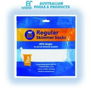 Skimmer Socks - Swimming Pool Filter Sock - Aussie Gold - Pack of 5
