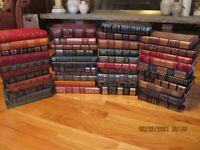"""EASTON PRESS LEATHER BOUND LOT OF 82 BOOKS """"GREATEST 100 BOOKS EVER WRITTEN"""" 1ST"""