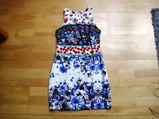 Ladies bodycon summer floral mini dress size 12 great condition Atmosphere vgc v