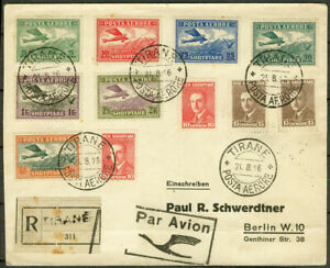 Albania 1926, Registered Airmail Cover From Tirana to Berlin, Germany