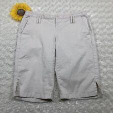 London Jean Womens Chino Bermuda Shorts Size 4 Stretch Khaki Beige kr3229
