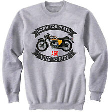 BSA A65 - NEW COTTON GREY SWEATSHIRT ALL SIZES IN STOCK