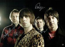 Liam GALLAGHER & Beady EYE BAND SIGNED Autograph MASSIVE 16x12 Photo AFTAL COA