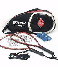 Lot of Ektelon Energy 900 Power Level Oversize 105 Racquets + Accessories, Bag