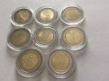 Lot de 8 pièces de 2 € commémoratives Finlande 2005/06/07/08/09/10/13/14 UNC
