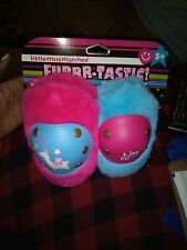 Little MissMatched Pink & Blue Furrr-Tastic Llama Hardshell Knee & Elbow Pads
