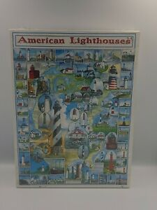 New AMERICAN LIGHTHOUSES White Mountain 1000 Piece Jigsaw Puzzle Factory Sealed