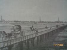 Hamburg - alte Elbbrücke, abgebrochen 1817, Suhr um 1815