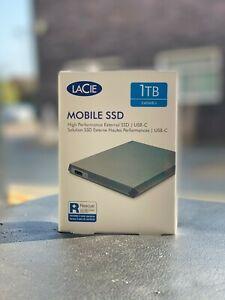 LaCie 1TB Mobile SSD High‑Performance External SSD USB-C USB 3.0