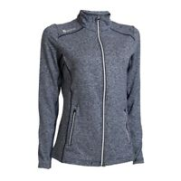 Ladies Midlayer Golf Jacket Melange Navy - Made in Denmark