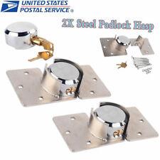 2PCS Heavy Duty Van Garage Shed Door Lock Security Padlock & Hasp Set W/ Bolts