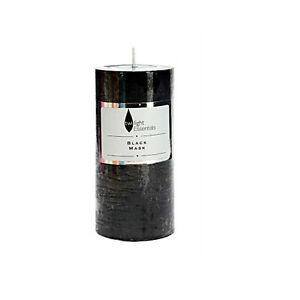 Scented Pillar Candle Black Musk 6.8x14cm Black Candles 76 Hours