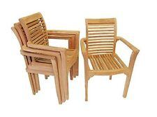 Premium Grade A Teak Stacking Chair w Arms,(Packed 4 per box) LIST $550 ea, SALE