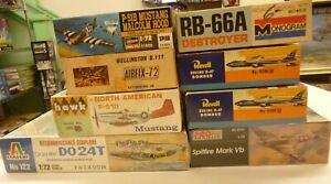 Huge Lot 1/72 Old Military Aircraft Model Kits (8) 5 Sealed