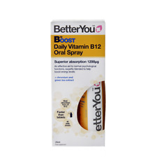 """4 x BetterYou Vitamin B12 Boost """"Pure Energy"""" Oral Spray 25ml (Better You)"""