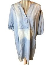 Lucky Brand Denim Tunic Dress  XL Short Sleeve Pocket Front