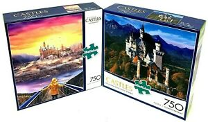 NEW! Majestic Castles Puzzles! LOT OF 2: Discover Fantasy; Neuschwanstein Castle