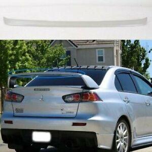 Gurney Flap Add EVO Rear Lip Spoiler Wing For 08~16 Mitsubishi Evolution X Sedan