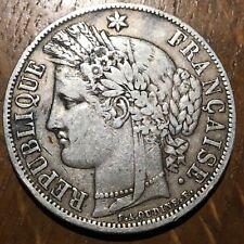 PIECE DE 5 FRANCS CÉRÈS 1850 A EN ARGENT (453)