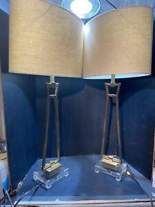 Uttermost 26144-1 Leonidas 36 inch 150 watt Gold Table Lamp Portable Lights