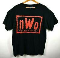 Vintage NWO New World Order XL T-shirt Wrestling WWF WWE WCW Wolfpack Red Black