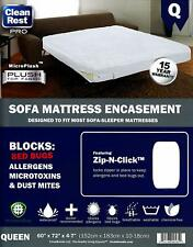 Mattress Encasement Clean Rest PRO SOFA Bed Bug, Allergen & Dust Mite - QUEEN