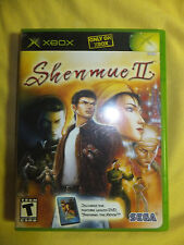 XShenmue II 2 Microsoft Xbox 2002 Game Case & Instruction Manual Book no movie