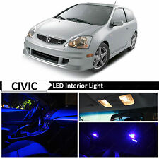 7x Blue LED Lights Interior Package Kit for 2001-2005 Honda Civic SI EP3