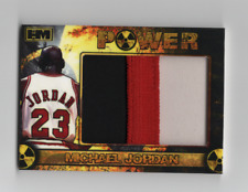 michael jordan Jumbo Patch 3 color game used #d 4/10 Very Rare Power non auto H