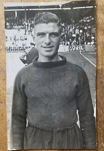 Sighed Reg Allen Manchester United FC 1950s Press Photograph Photo Autograph