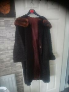 Vintage Genuine 'Astra Furs Paris' Astrakhan Swing Coat 1950's/60s -