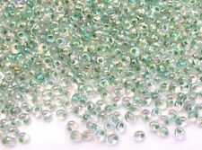 10g olive-lined crystal AB Miyuki magatama drop beads -4 x 5mm-1.5mm hole [2148]