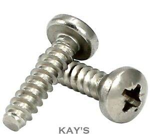 BLUNT POINT POZI PAN SELF TAPPING SCREWS A2 STAINLESS STEEL TAPPERS #2 4 6 8 10